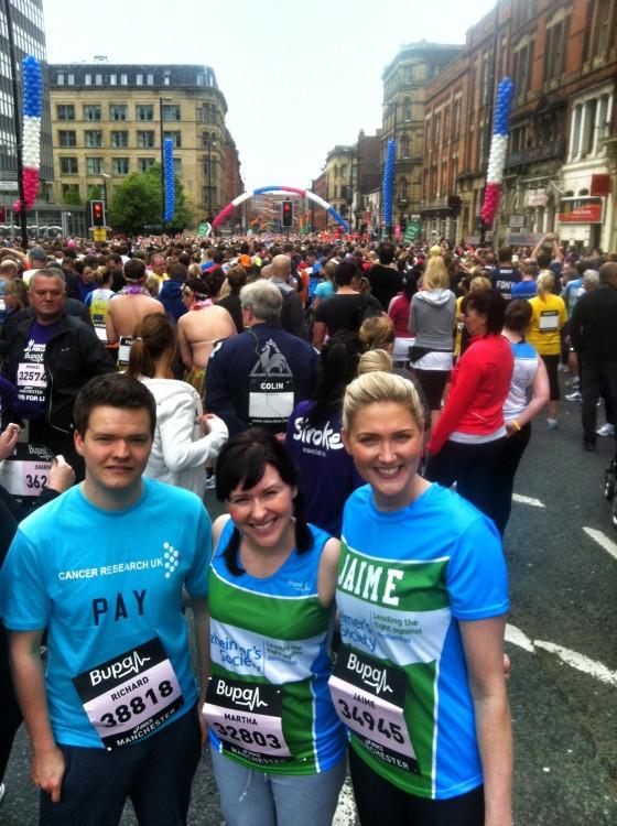 JAM at the start (l-r) Richard Pay_Martha O'Dell_Jaime Gee